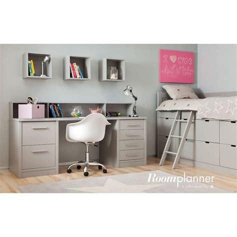 lit mezzanine combiné bureau chambre enfant avec lit à tiroirs bureau et rangement