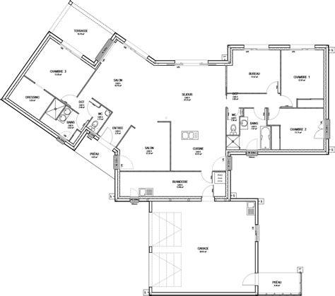 free plan maison eglantine with plan maison moderne 160m2