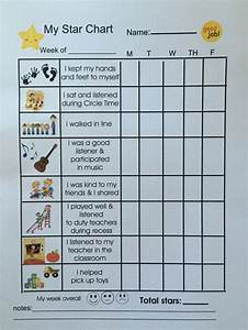 Positive Behavior Charts For Toddlers Toddler Positive Behavior Star Chart Behavior Chart