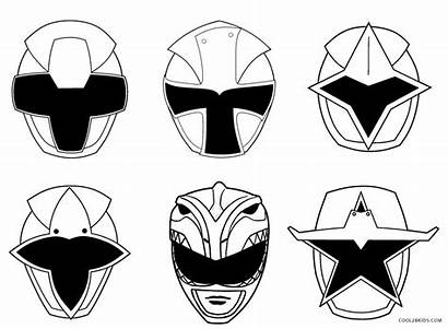 Coloring Power Pages Ranger Rangers Mask Printable