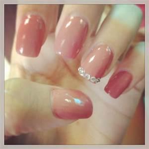 Cute classy acrylic nails with diamond studs   Nails ...