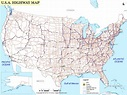 Highway Map Of United States   Campus Map