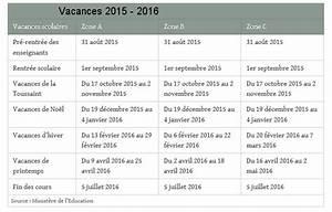 Dates De Vacances Scolaires 2016 : dates des vacances scolaires en france zone par zone ~ Melissatoandfro.com Idées de Décoration