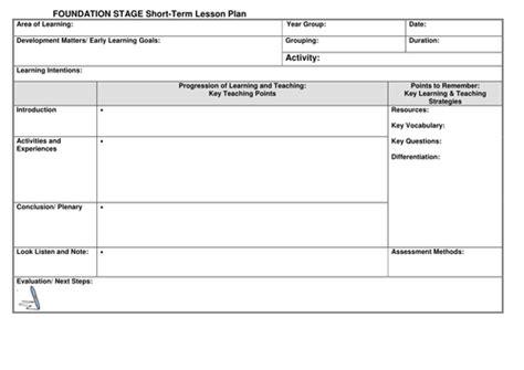 eyfs lesson plan template  noaddedsugar teaching