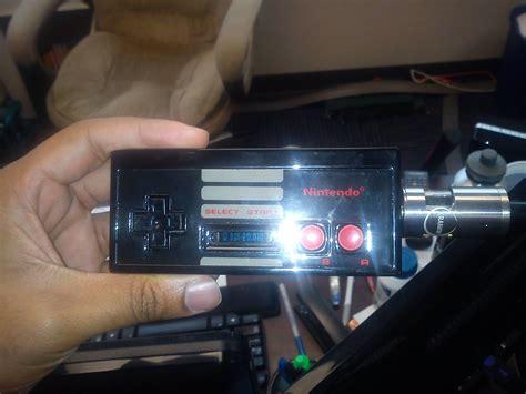 #retro (black) #nes Controller Custom #vape Gear