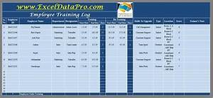 Training Attendance Register Template Download Employee Training Log Excel Template Exceldatapro
