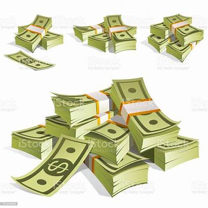 Money Vector Bank Notes Background Bundles Isolated