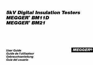 Megger Bm11d Bm21 5kv Digital Insulation Tester User Guide