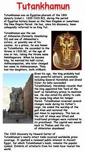 Tutankhamun Mini Biography By Krisgreg30 Teaching