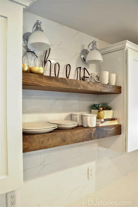 pbjstories  diy open kitchen shelves pbjreno
