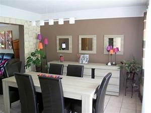 salon moderne couleurtaupe salle manger collection et With salle a manger et salon moderne