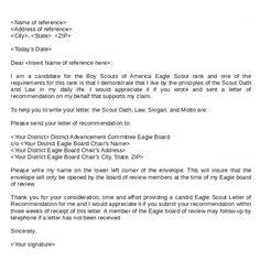 Employer Recommendation Letter Sle by Eagle Scout Recommendation Letter Sle Letters