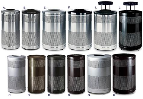 classics perforated stainless steel mesh trash receptacle