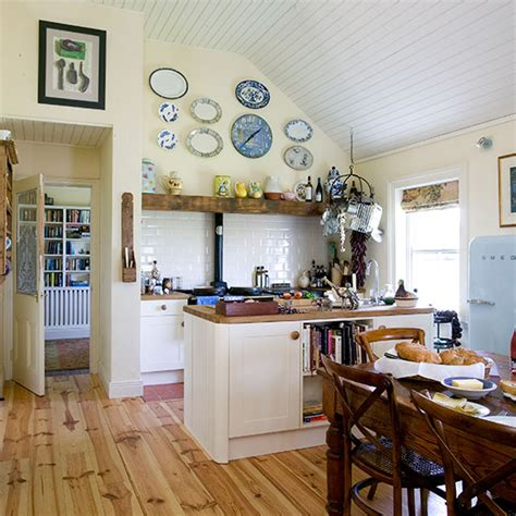 Cream And Oak Country Kitchen  Decorating  Ideal Home
