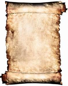 Manuscript horizontal burnt rough roll of parchment paper ...