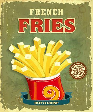 affiche vintage cuisine retro vintage fast food poster design vector free vector