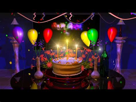 magical cake animated happy  birthday wishes ecards