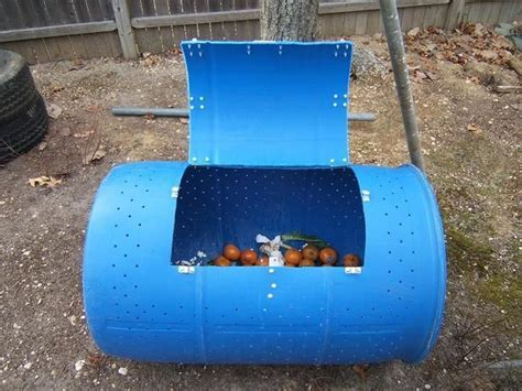 DIY Double Decker Drum Composter   Home Design, Garden