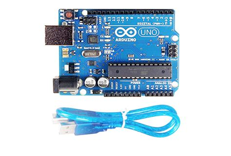 arduino uno  board  usb cable  robotic project