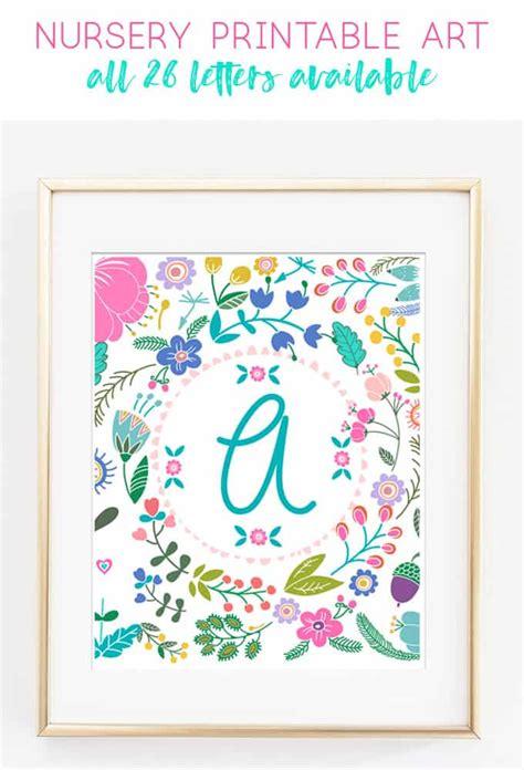 printable art baby girl gift idea