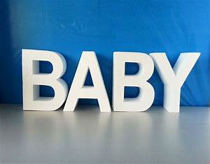 baby letters 3d baby shower letters baby party centerpieces With baby letter