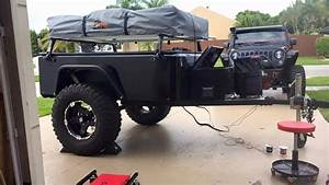 Douglas Wiring Up Rock Lights On His Jeep Trailer