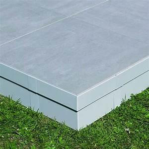 Plot Plastique Terrasse : finition lat rale de terrasse bois ou dallage sur plots ~ Edinachiropracticcenter.com Idées de Décoration