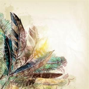 Feathers background design Vector | Premium Download