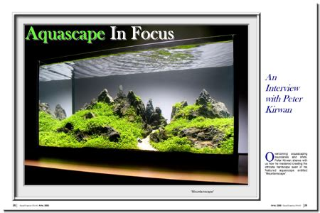 Aquascaping Magazine by Aquascaping World Magazine With Kirwan