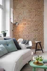 tapetenmuster wohnzimmer backstein tapete schicke rustikale akzente in der modernen wohnung