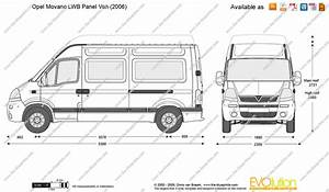 opel movano lwb panel van vector drawing With new vauxhall vivaro