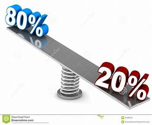 Pareto Principle Stock Illustration  Image Of Background