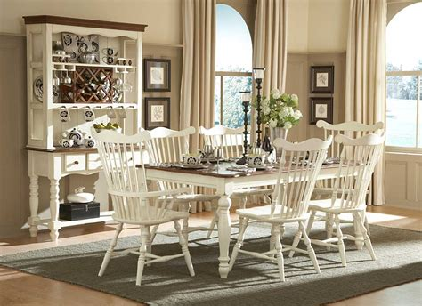 White Furniture Country Style With Haed Wood Counter Table