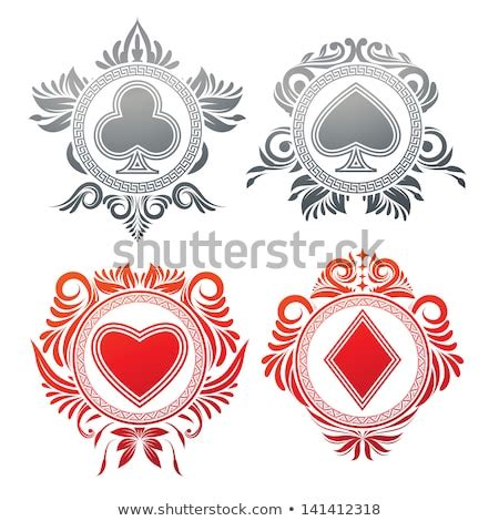 playing card ace spadesgothic coat arms stock vector