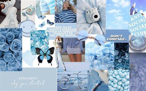 hd aesthetic macbook wallpaper collage blue