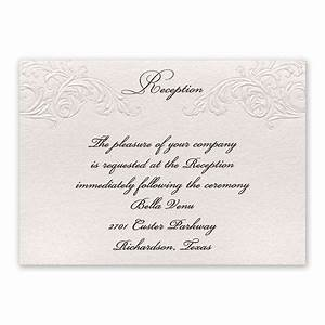 elegance and grace reception card invitations by dawn With how much are wedding invitation cards