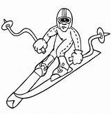 Coloring Winter Sports Pages Olympic Printable Getcolorings Print sketch template
