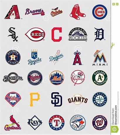 Baseball Logos League Major Teams Logoer Emblemen