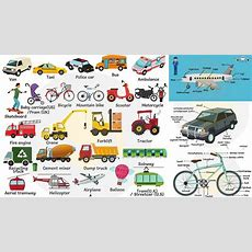 Vehicle Names  Transportation Vocabulary  Modes Of Transport And Street Vehicle Names For Kids