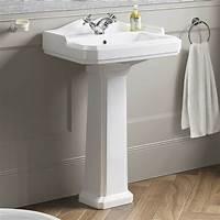 lovely traditional bathroom sinks Traditional Ceramic Basin And Pedestal Single Tap Hole Bathroom Sink CB629FB1 | eBay