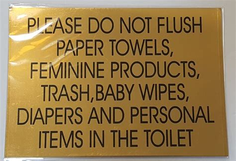 dob   flush paper towels sign aluminum sign size