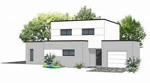 Plan Maison Contemporaine Toit Plat : plan maison toit plat etage maison en 2018 pinterest toit plat plan maison et maison toit ~ Nature-et-papiers.com Idées de Décoration