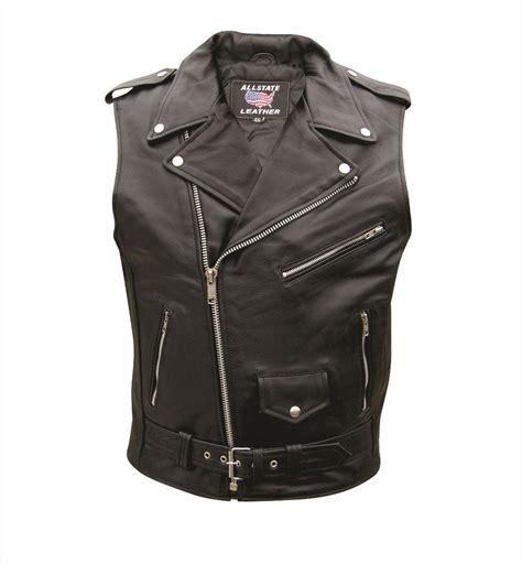 mens sleeveless buffalo leather motorcycle jacket mens