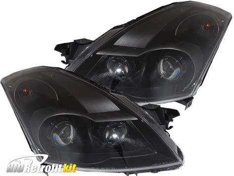 nissan altima headlights 2007 2009 nissan altima sedan hid bi xenon quad projector