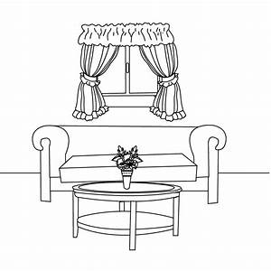 Coloring pages living room for Living room coloring