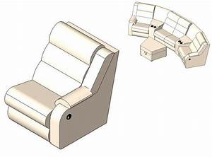 Revitcitycom object right recliner coaster sectional sofa for Sectional sofa revit