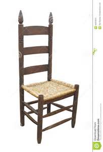 antique ladder back chair isolated stock photo image 45914914