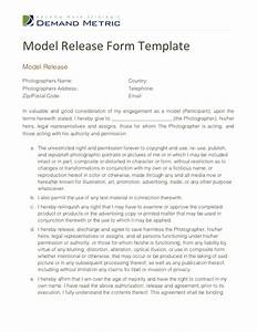 model release form template With photography waiver and release form template