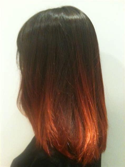 cheveux tie and dye brun roux looks i want en 2019 produits capillaires cheveux bruns et