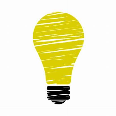 Bulb Transparent Lightbulb Idea Clipart Genius Yellow